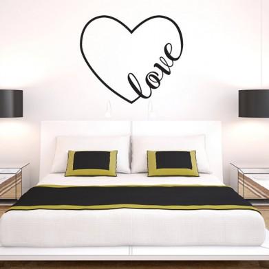 Наклейка на стену - Сердечко Love
