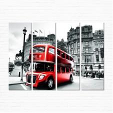 Модульная картина - Лондонский Автобус