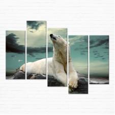 Модульная картина - Полярный Медведь