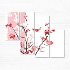 Модульная картина - Розовое Спокойствие