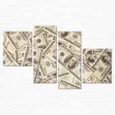 Модульная картина - Доллары