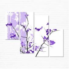 Модульная картина - Фиолетовое Спокойствие