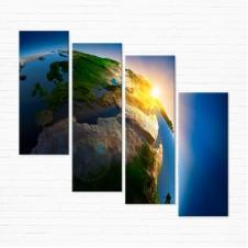 Модульная картина - Планета Земля