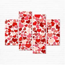 Модульная картина - Сладкие Сердца