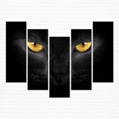 Модульная картина - Black Cat Eyes