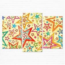 Модульная картина - Красочные Звезды