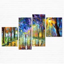 Модульная картина - Цветной парк