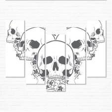 Модульная картина - Floral Skulls