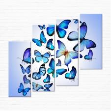 Модульная картина - Голубые Бабочки
